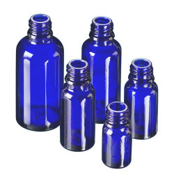 Cobalt Blue Glass Essential Oil Bottles