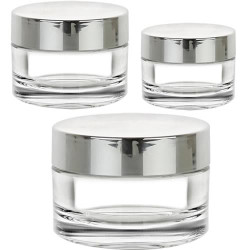 Thick Wall Jars with Silver Cap