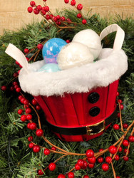 Clearance Santa's Basket of 6 Bath Bombs