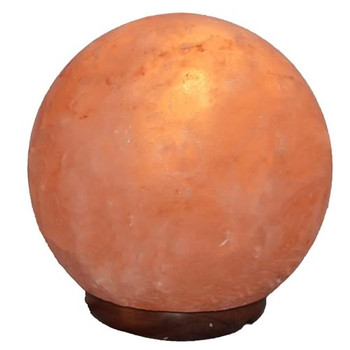Natural Crafted Small Globe Salt Lamp