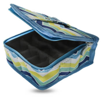 16ct. Striped Canvas Essential Oil Carrying Case