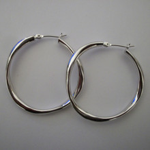 Small Silver Mimi Hoops