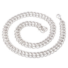 Silver Circle Interlink Necklace