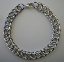 Silver Circle Interlink Bracelet