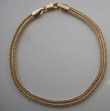 Gold Mini Snake Braid Bracelet