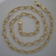 Gold Oval Links Necklace