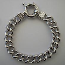 Silver Oversize Rope Bracelet