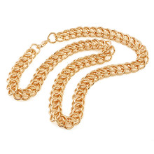 Rose Gold Circle Interlink Necklace