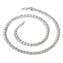Silver Snake Twist Necklace