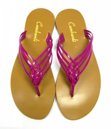 Fuchsia Crossover Sandal