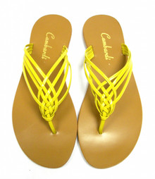 Yellow Crossover Sandal