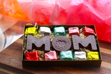 Our delicious Velvet Mints surround this solid chocolate MOM, it is a treat worthy of the Queen!!