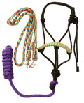 Halter and Rein Set (Purple, Orange, Aqua, Green)