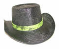 Black snake skin with green band
