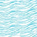 Sky Blue Zebra Print Bandana