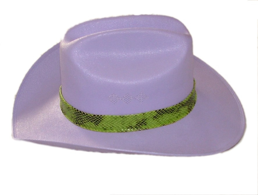 Lavendar Canvas Cowgirl Hat with Snake Skin Band - Pistol Jane Store 7ee8c8dacab