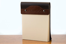 Large Notepad Tan Calf with Brown Calf