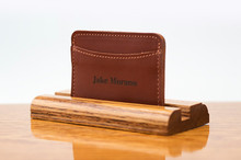 3 Pocket Card Case Chestnut Bridle
