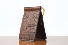 Spring Clip Wallet Cognac Gator