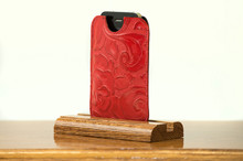 Phone Sleeve Ferrari Red with Red Floral