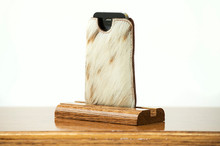 Phone Sleeve Chestnut with Brown & White HOH