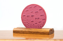 2 Sided Pink Croc with Rose Grenadine Coaster