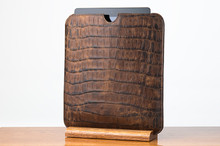 Tablet Sleeve Brown Boomer with Cognac Gator