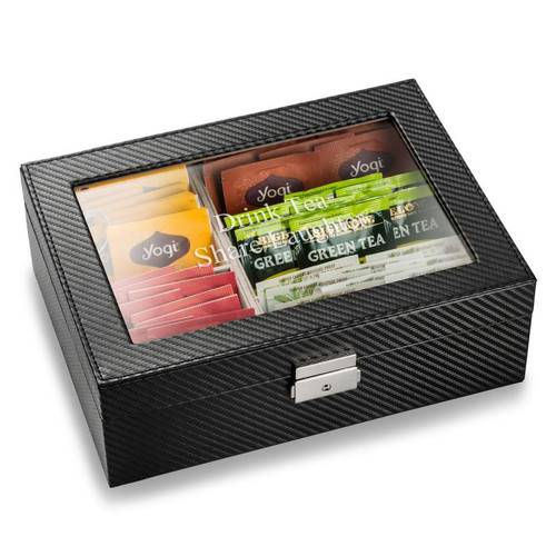 Tea Caddy Box with  Personalized Lid (Note: Tea NOT included)