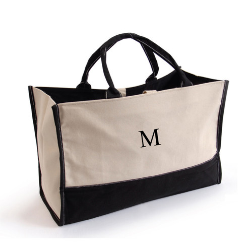 Personalized Metro Tote 'em Bag with Single Initial