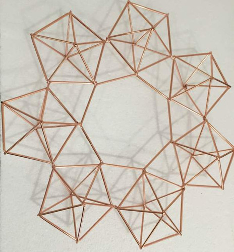Copper Color Himmeli 3 Dimensional Geometric Wreath