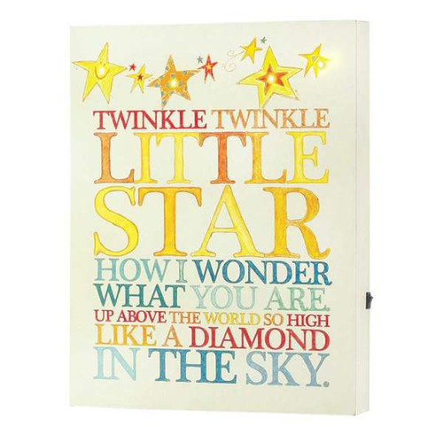 'Twinkle Twinkle' LED Wall Art Plaque 11 Inch x 14 Inch