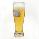 Personalized 20 Ounce Pewter Medallion Pilsner Glass