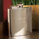 Personalized High Polished Stainless Steel 7 oz. Flask