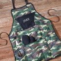 Deluxe Personalized Camouflage Grilling Apron Set