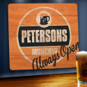 Always Open Personalized Wood Tavern & Bar Sign (Item#GC1067)