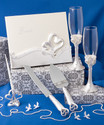 Interlocking Heart Themed Wedding Day Accessory Set (Item# 2496)