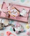 Pink Baby Carriage Design Key Chains Set of 30
