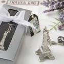 Eiffel Tower Metal Key Chain Favor