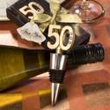 50th Anniversary Wine Bottle Stopper Favor - Set of 30