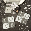 'Love' Glass Coasters (Set of 2) - 50 Sets