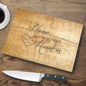 Pine Wood Personalized Glass Cutting Board