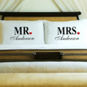 Custom Mr and Mrs Pillow Case Set