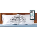 "Tandem Bicycle ""They Lived Happily"" Pillow Case Set"