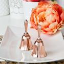 2 Rose Gold Metal Wedding Bell Favor
