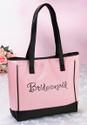 Bridal Party Pink Tote Bag for Bridesmaid