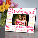 Kaleidoscope Bridesmaid Picture Frames