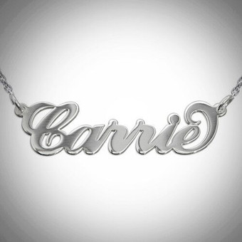 Personalized Sterling Silver 'Carrie' Necklace