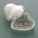 Silver Plated Heart Trinket Box