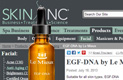 Skin Inc Website (July 18, 2013)