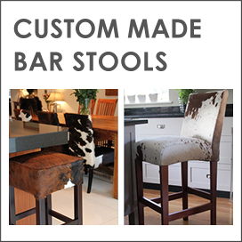 Custom Cowhide Bar Stools